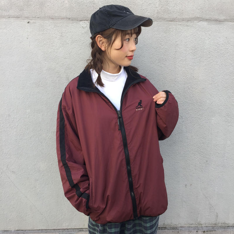 Kangol one point wine red jacket