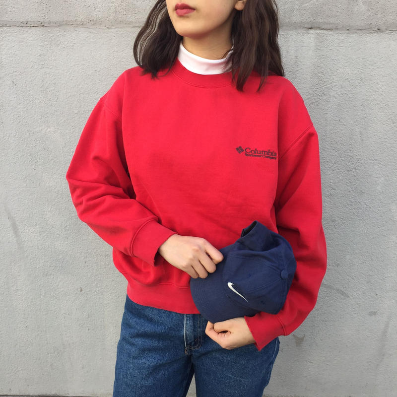 Columbia red one point sweat