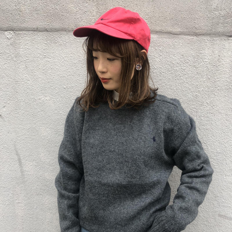 Polo gray one point knit