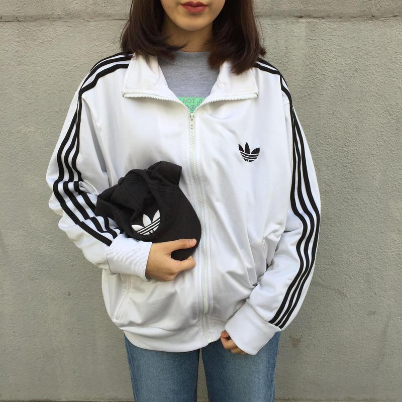Adidas white simple logo jersey
