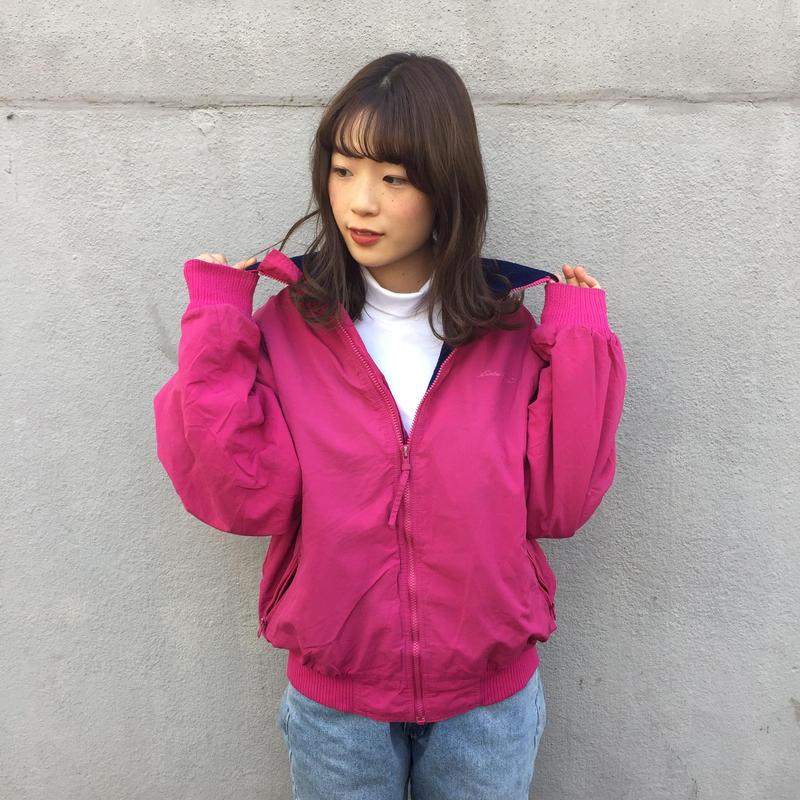 Vivid pink one point boa jacket