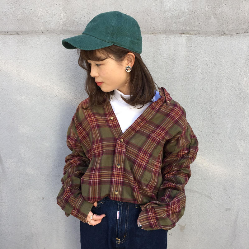 Nautica earth color one point check shirts