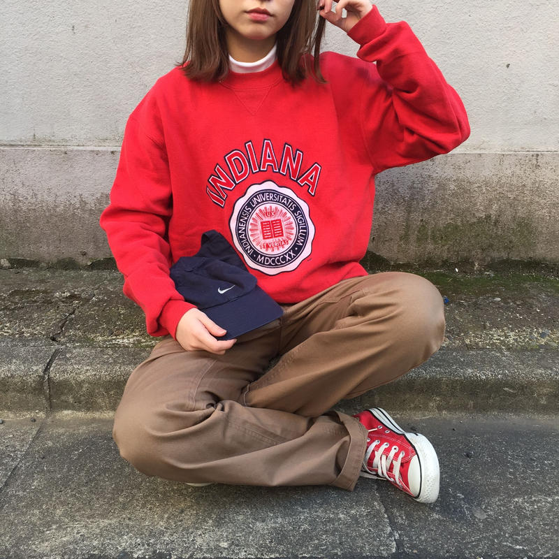 INDIANA red logo sweat