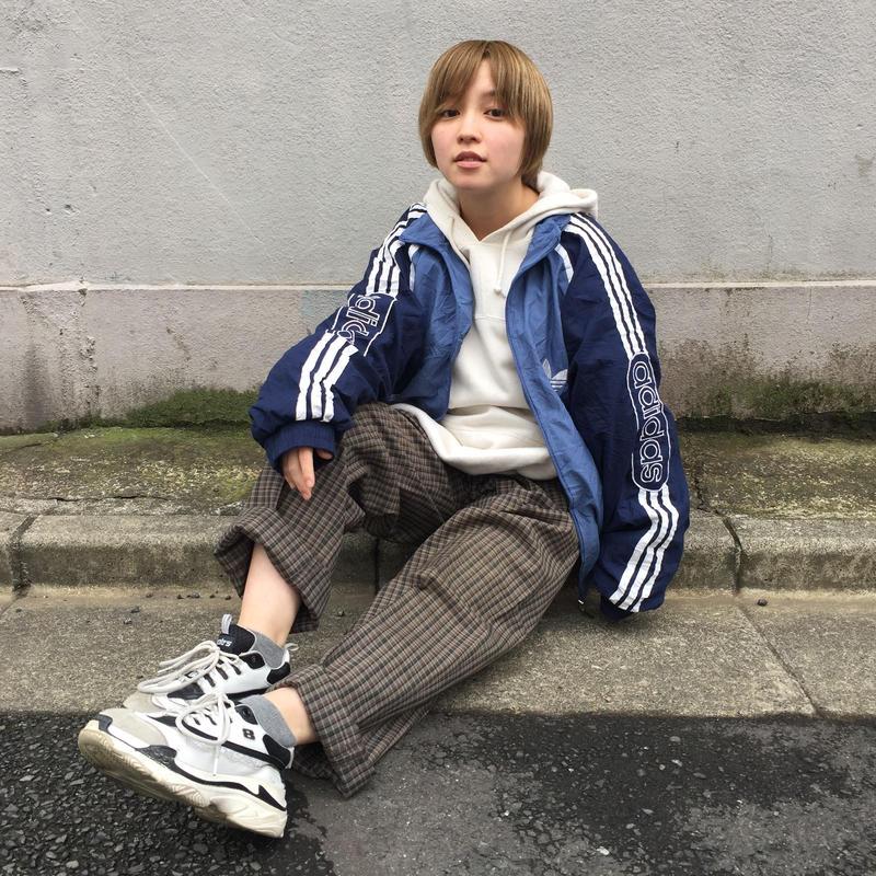 Adidas blue tone one point nylon jacket
