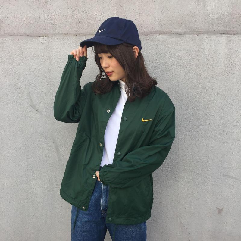 Nike green yellow nylon jacket