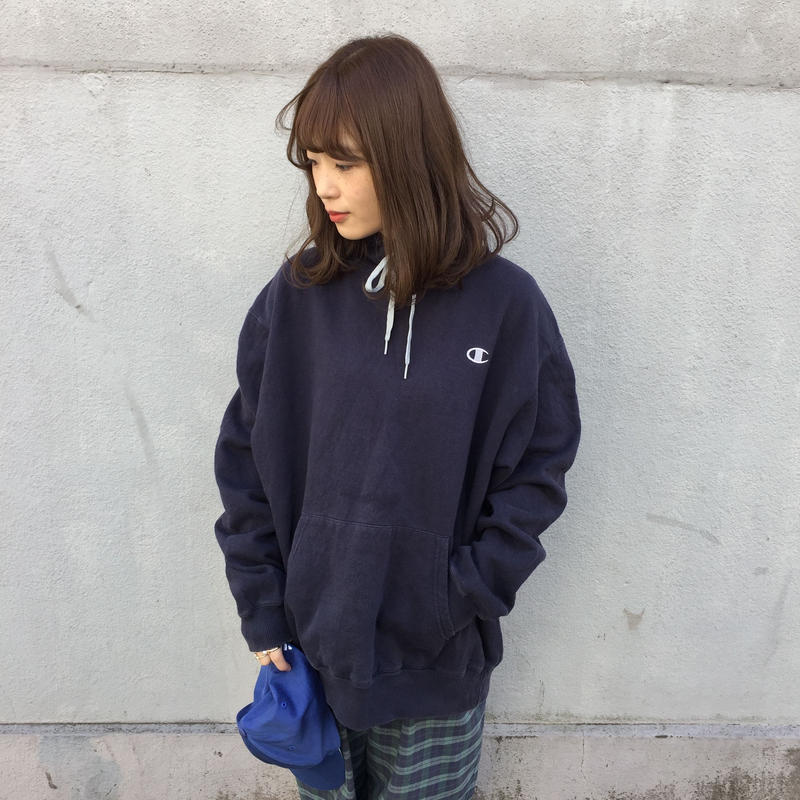 Champion navy one point hoodie
