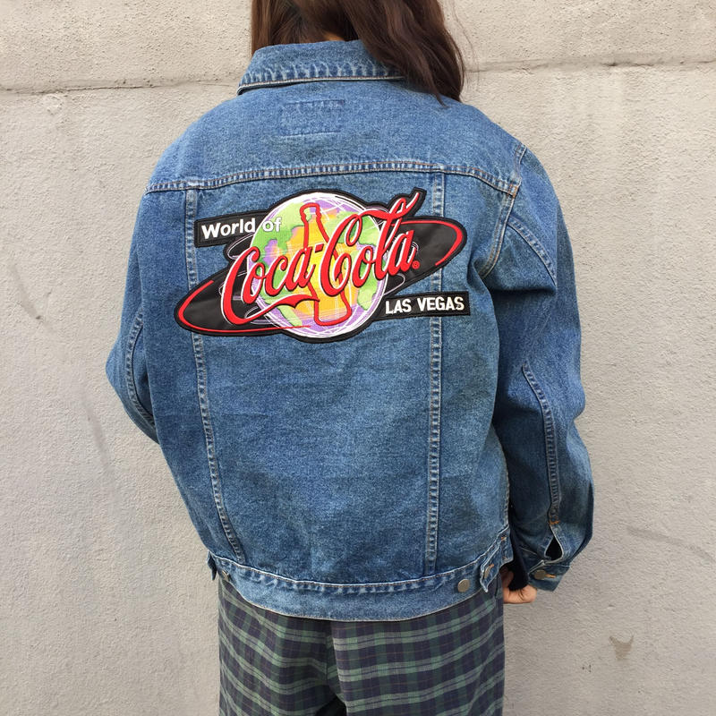 Coca Cola back logo denim jacket