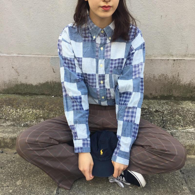 Chaps blue check shirts
