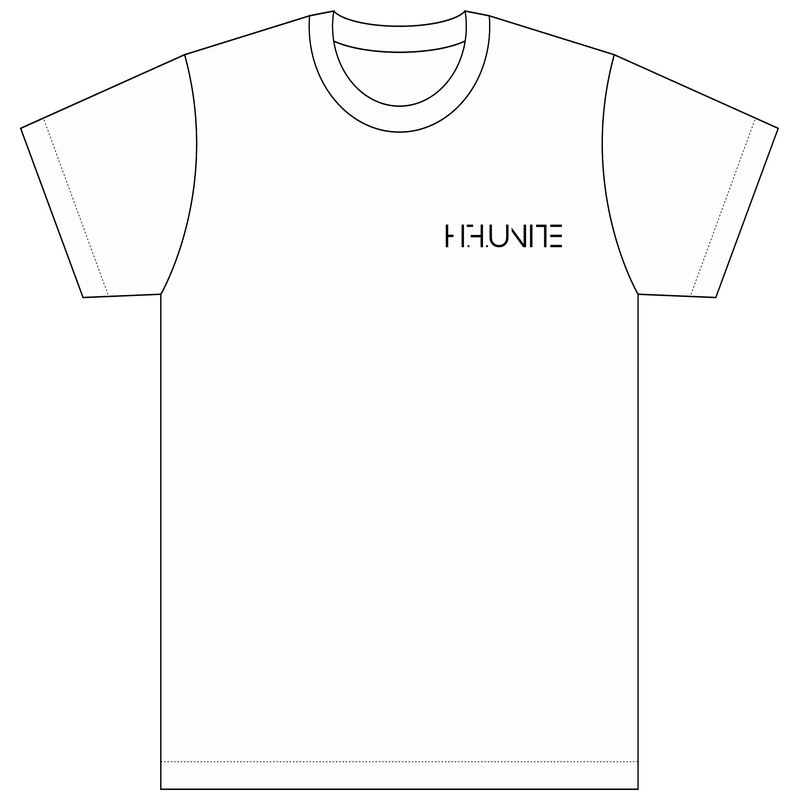 [Tシャツ]HFU -Geometry logo-  White T-shirts