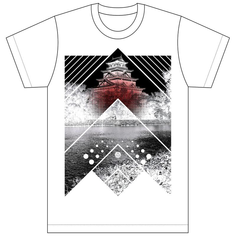 [Tシャツ]HIROSHIMA FUSION UNITE CLAC -HRSM Castle- WHITE
