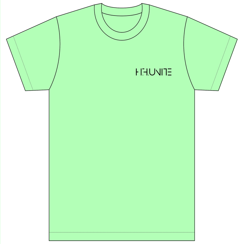 [Tシャツ]HFU -Geometry logo-  Light Green T-Shirts