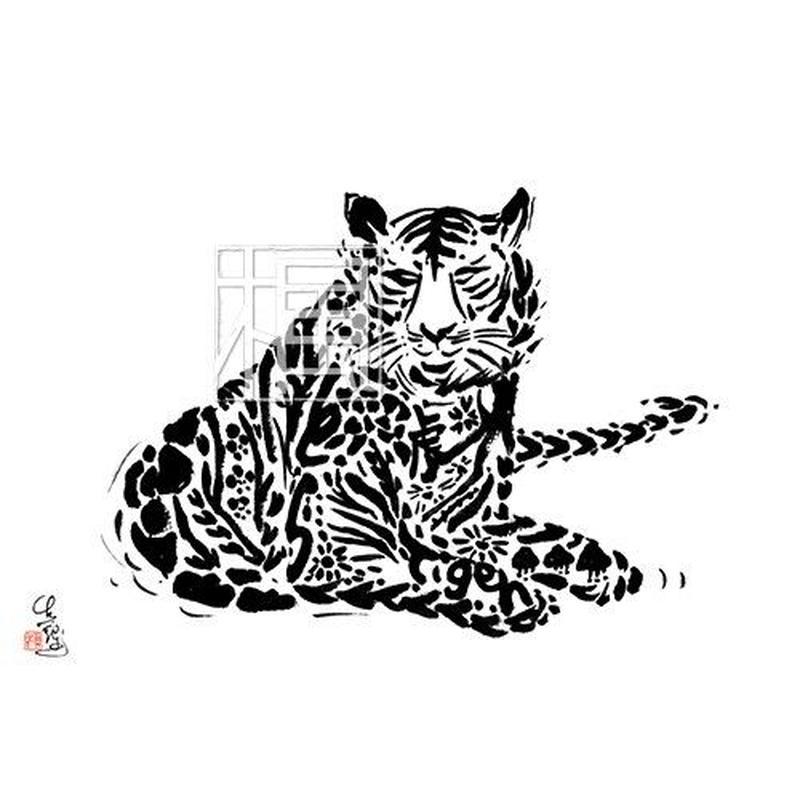 Tiger トラの墨絵