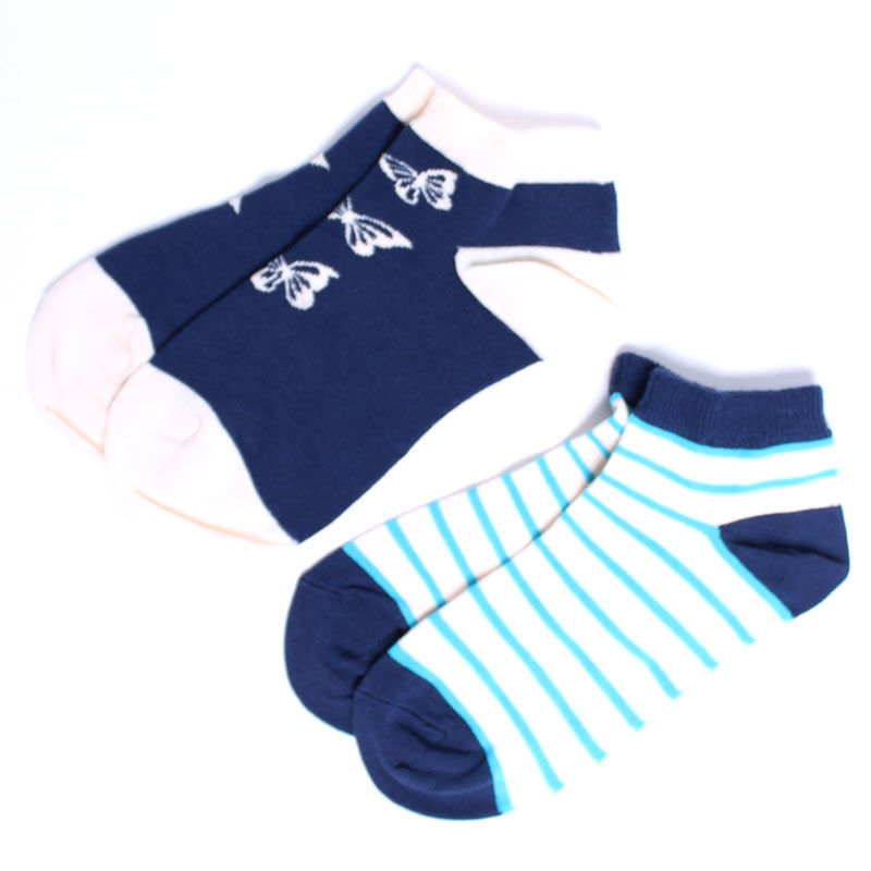 PACT/パクト【S14-WSH-BU2】Women's Butterfly Two-Pack Shorties-2足セット 靴下