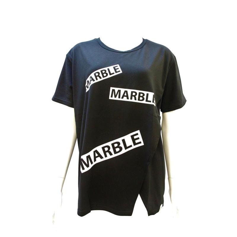 (Marble) フロントオープンT ブラック