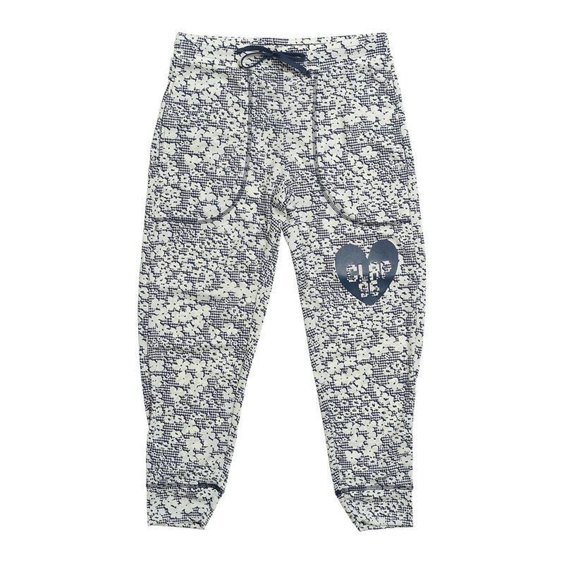 (CLAP)  C-FLOWER  CROPPED PANTS ネイビー