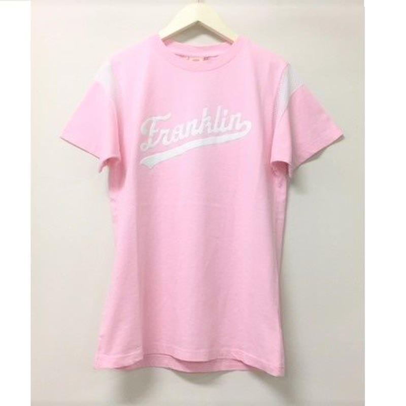 (FRANKLIN&MARSHALL)  オーバーフィットインサート入りTシャツ パウダーピンク