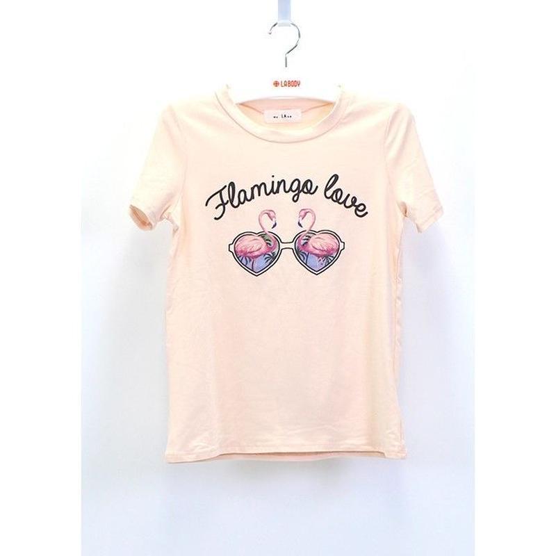(MY  LAND)   FLAMINGO Tシャツ  PINK