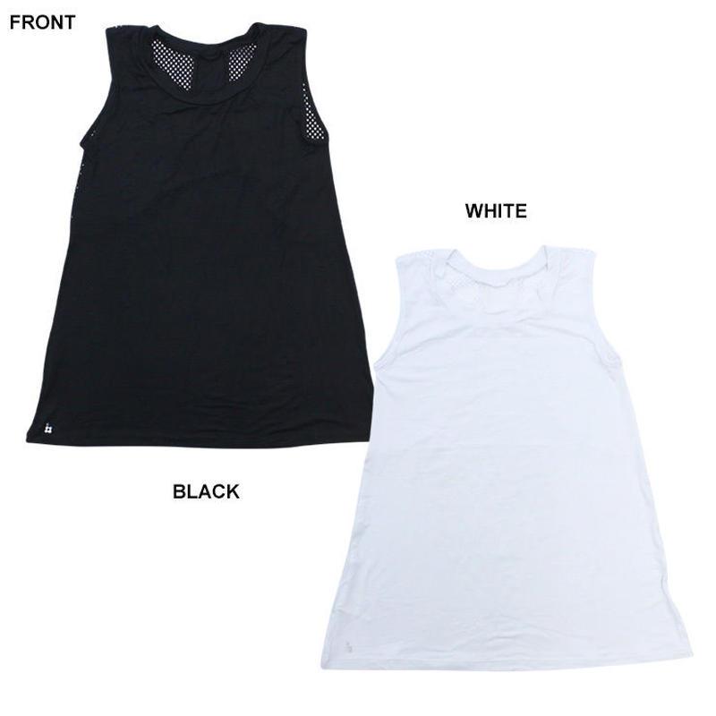 (Brasil Sul )ラインストーン タンクトップ BLACK WHITE ONEサイズ