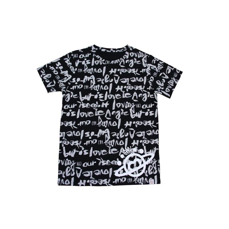 (Marble)  ロゴTシャツ ブラック