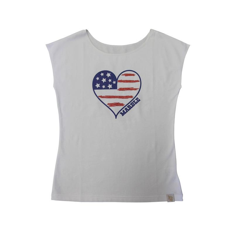 (Marble)  アメリカンフレンチT ホワイト