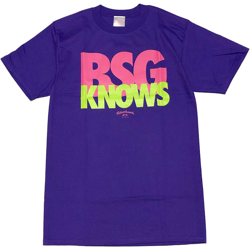 BGS KNOWS S/S Tee パープル