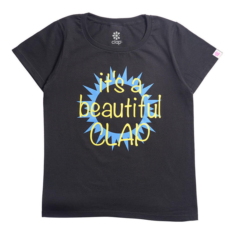 (CLAP) Beautiful CLAP Tee ブラック
