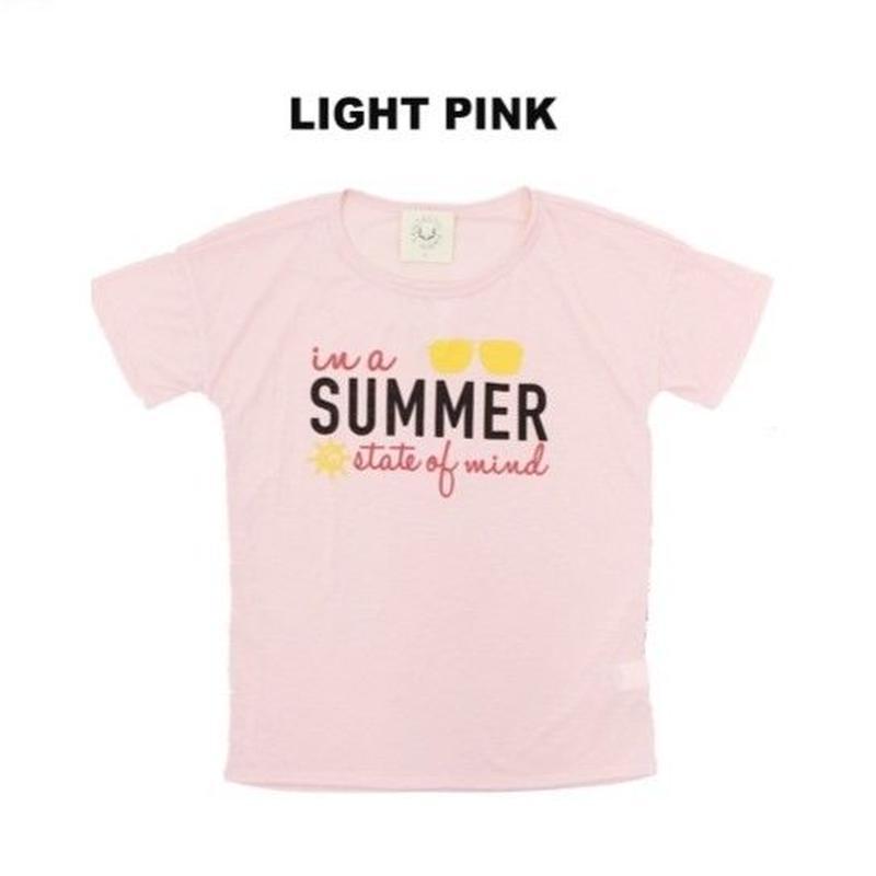 (FANTASTIC FAWN)SUMMERフロントロゴ Tシャツ  LIGHT PINK  Mサイズ
