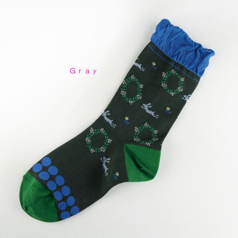 クリボテラ Usagi socks Gray