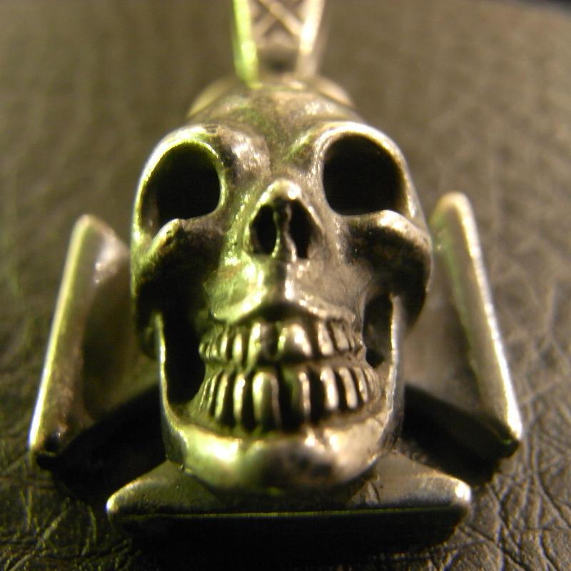 Skull Iron Cross Pendant[P-116]