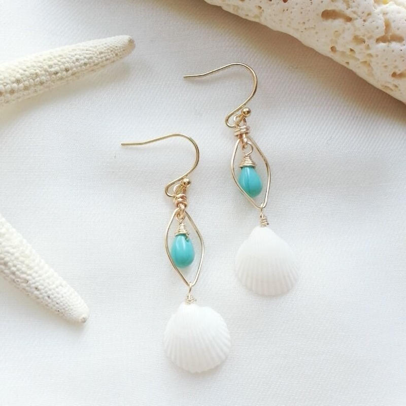 shell pierce☆turquoise
