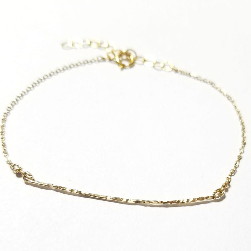 14kgf☆Emboss bar bracelet