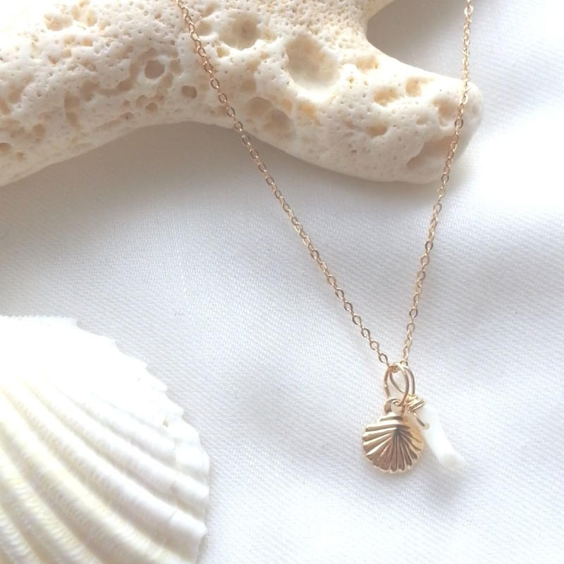 14kgf☆shell necklace