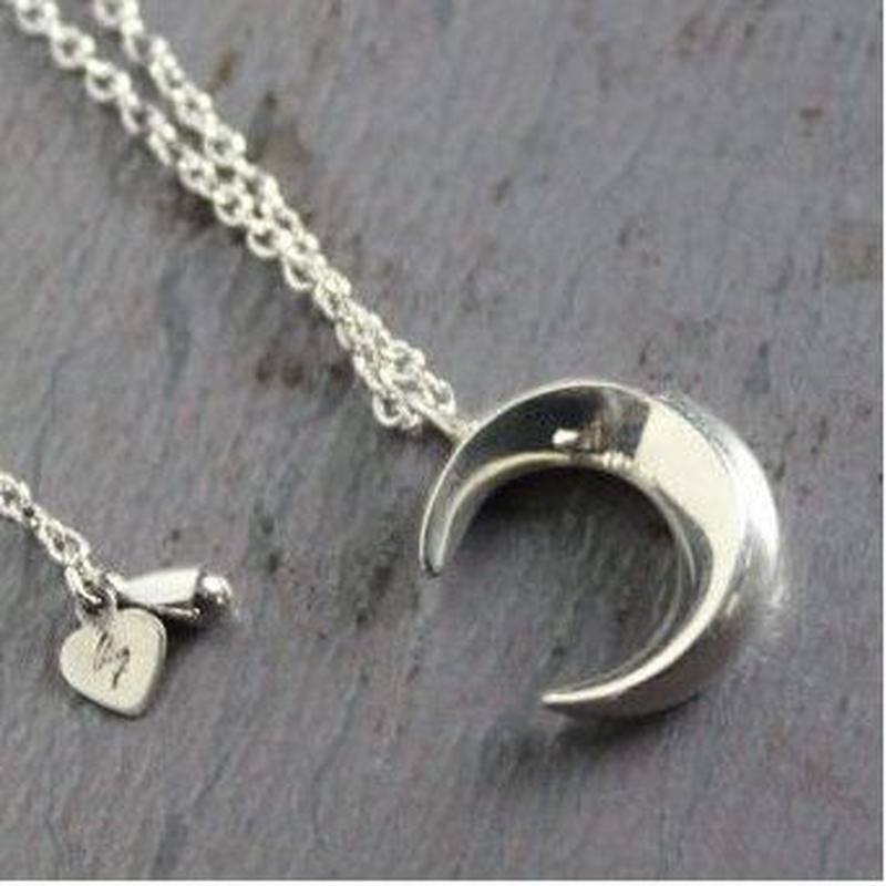 Crescent Necklace#silver(TOP単体)