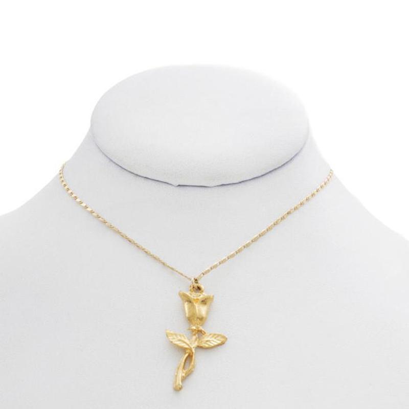 【VIDAKUSH】Rose Charm Chain Necklace