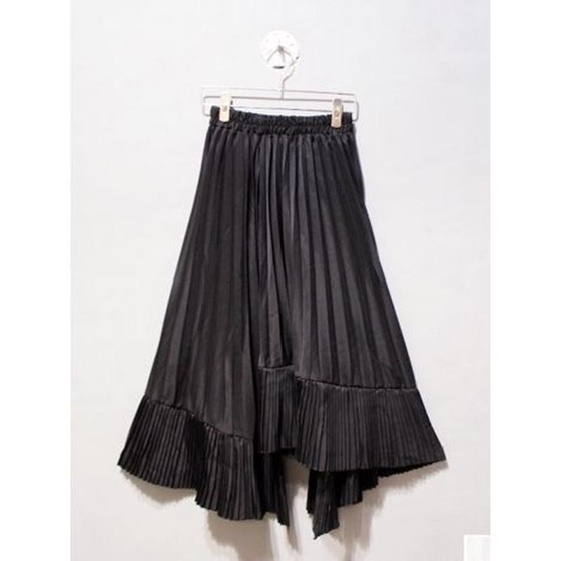 ASYMMETRY HEM PLEATS SKIRT