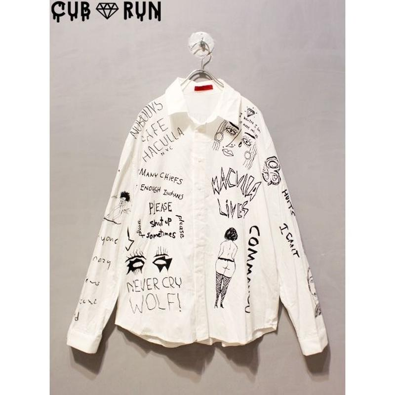 【CUBRUN】GRAFFITI BIG SHIRT