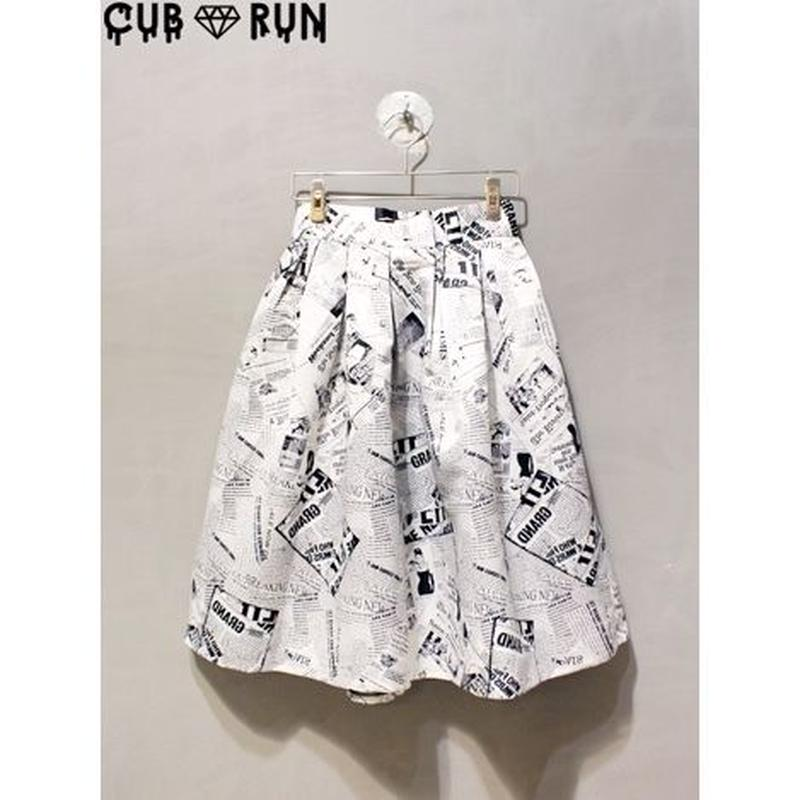 【CUBRUN】PHOTO PRINT FLARE SKIRT