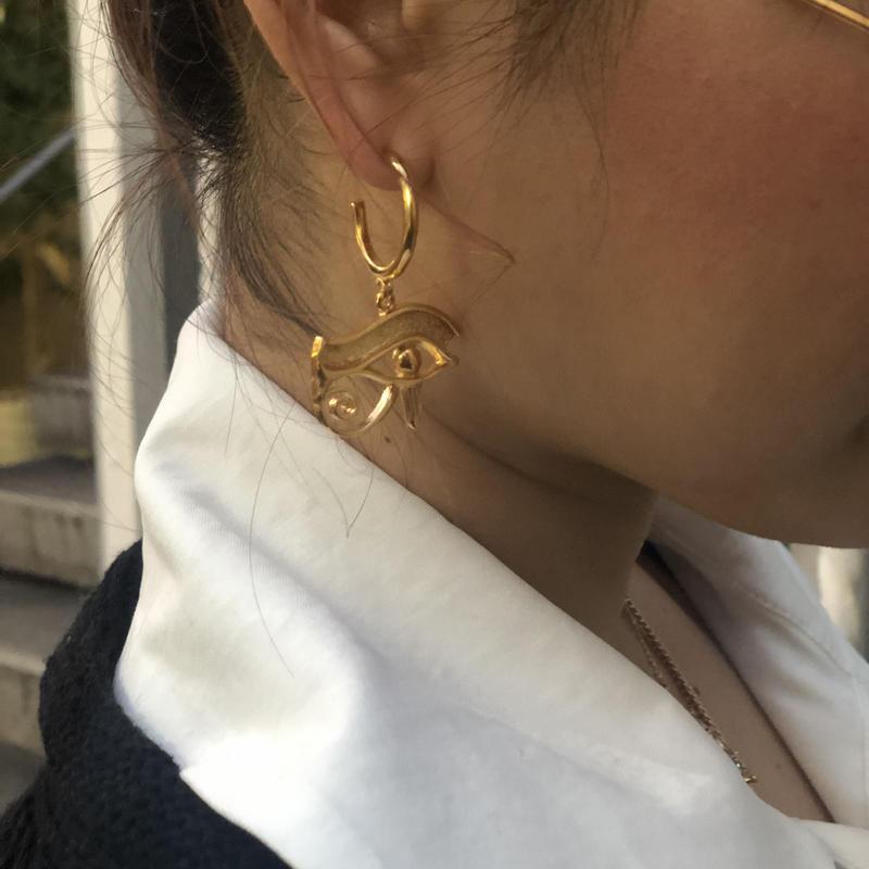 【VIDAKUSH】Eye of Horus Hoop Earrings