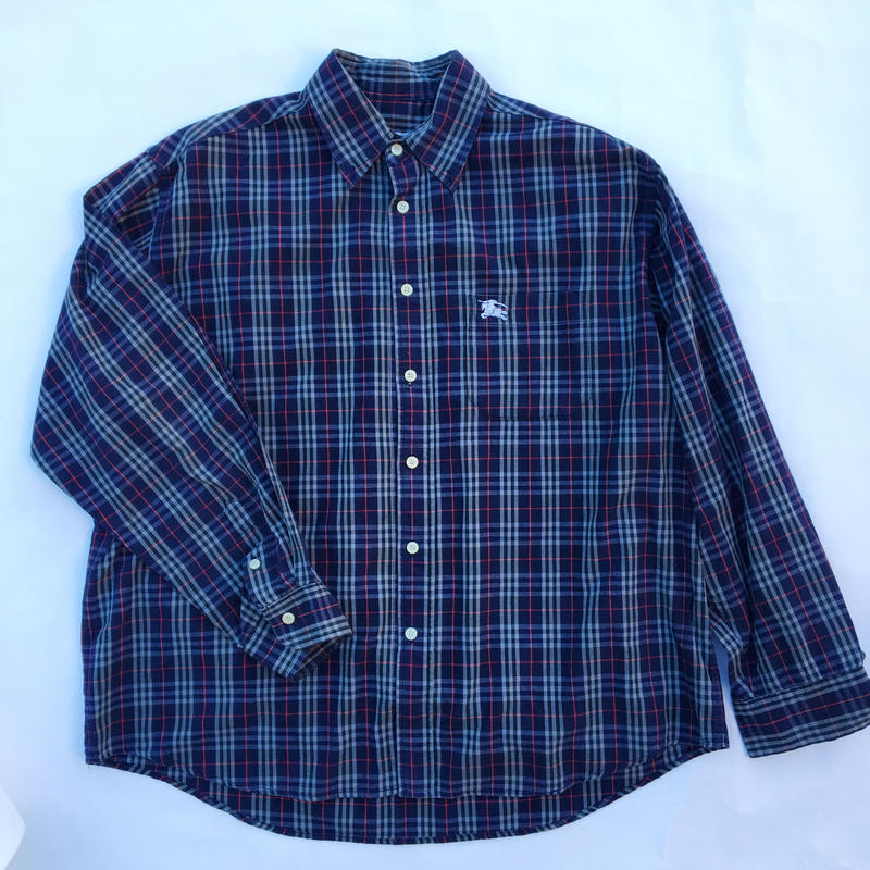 【USED】BURBERRY  CHECK  SHIRT