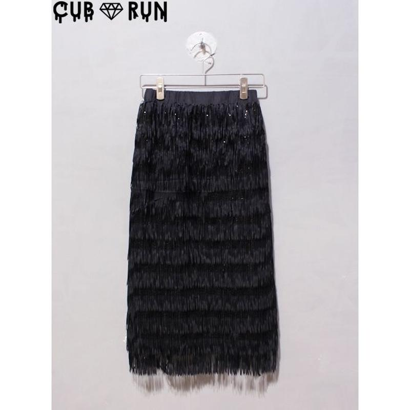 【CUBRUN】FRINGE SPANGLE SKIRT