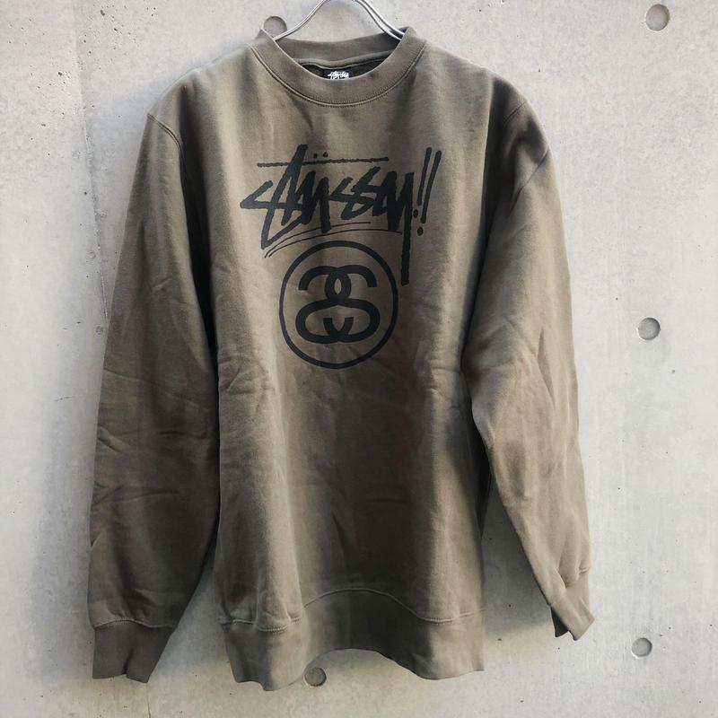 【STUSSY】SWEAT khaki