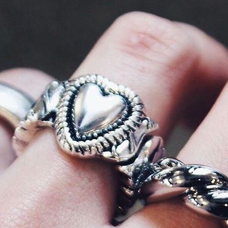 HEART GOM RING