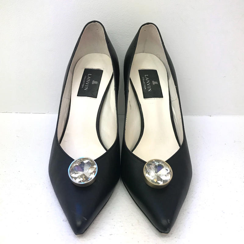 【USED】LANVIN SATIN PUMPS
