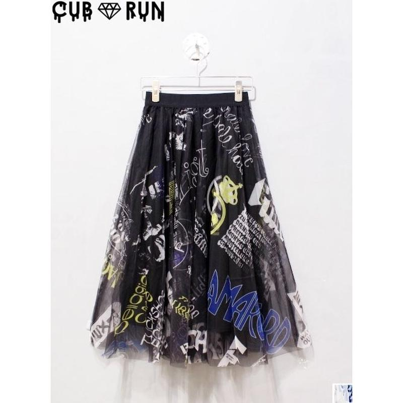 CUB RUN  GRAFFITI TULLE SKIRT