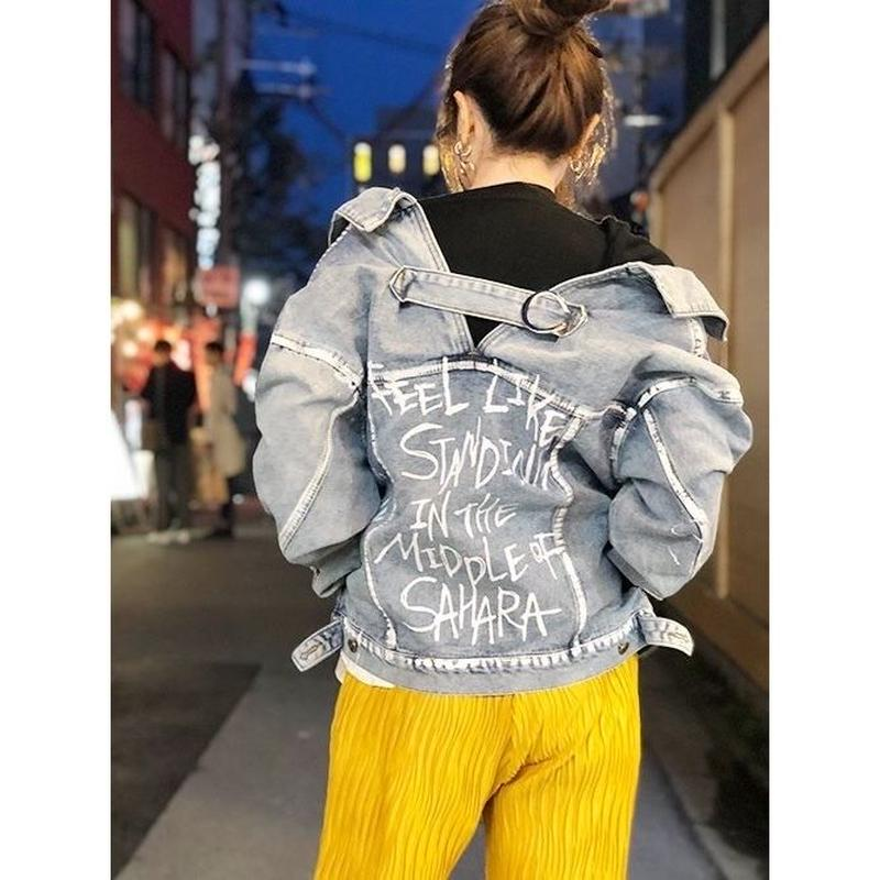 【CUBRUN】PAINT DENIM JACKET