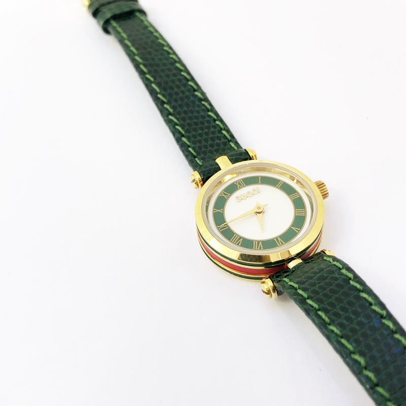 【Vintage GUCCI 】SIDE SHELLY WATCH