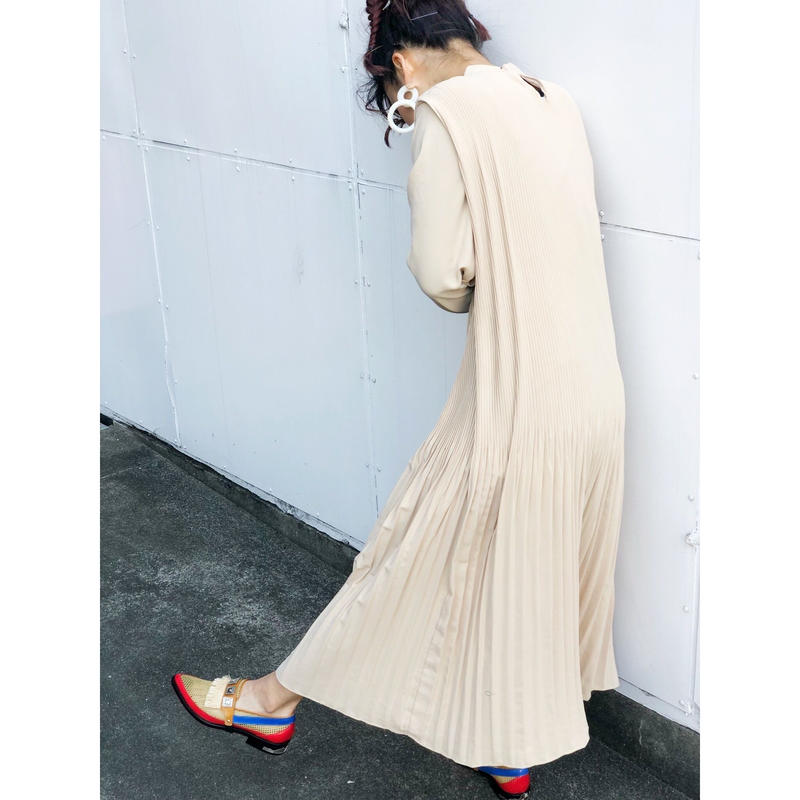PLEATS LONG DRESS