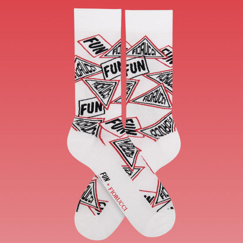【FUN X FIORUCCI】UNISEX TRIANGLE CREW SOCKS