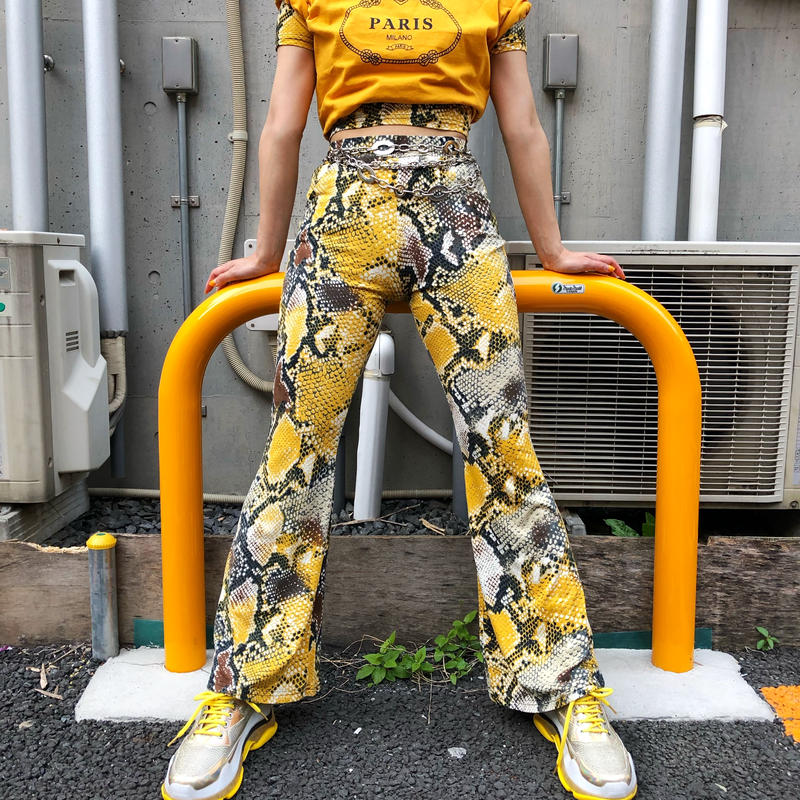 PYTHON BELLBOTTOM PANTS