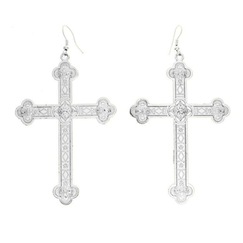 【VIDAKUSH】Ornate Cross Earrings